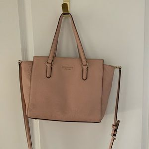 Kate Spade satchel purse in muted pink